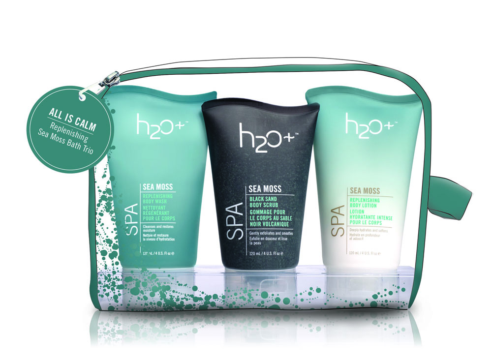 H2O Plus All Is Calm Replenishing Sea Moss Spa Bath Trio