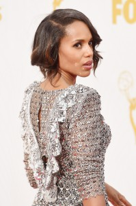 LOS ANGELES, CA - SEPTEMBER 20:  Actress Kerry Washington attends the 67th Annual Primetime Emmy Awards at Microsoft Theater on September 20, 2015 in Los Angeles, California.  (Photo by Jason Merritt/Getty Images)